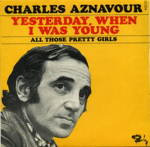 Yesterday When I Was Young sheet music by Charles Aznavour