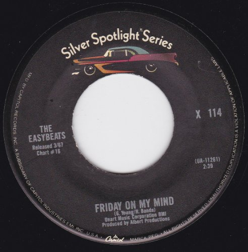 The Easybeats Friday On My Mind cover art