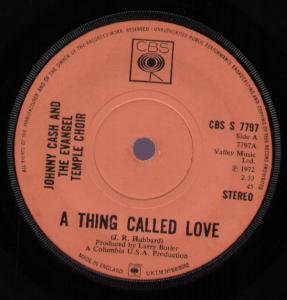Johnny Cash A Thing Called Love cover art