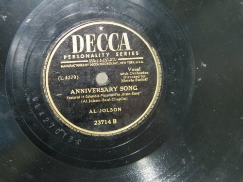 Al Jolson Anniversary Song cover art