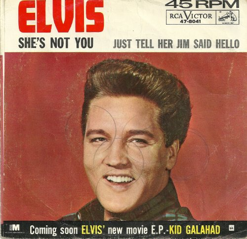 Elvis Presley She's Not You cover art