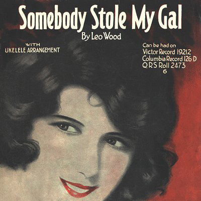 Leo Wood Somebody Stole My Gal cover art