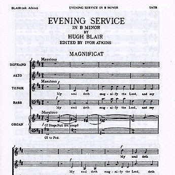 Hugh Blair Magnificat And Nunc Dimittis In B Minor cover art