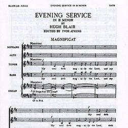 Magnificat And Nunc Dimittis In B Minor sheet music by Hugh Blair