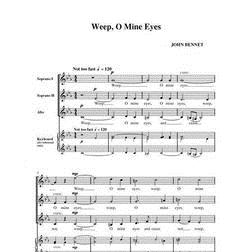 Weep, O Mine Eyes sheet music by John Leavitt
