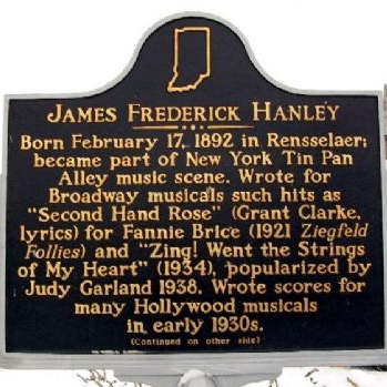James F. Hanley Zing! Went The Strings Of My Heart cover art