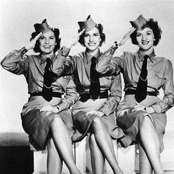 Too Fat Polka (She's Too Fat For Me) sheet music by The Andrews Sisters