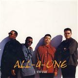 Partition piano I Swear de All-4-One - Piano Voix Guitare