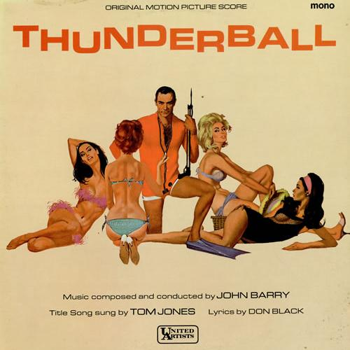 Tom Jones Thunderball (theme from the James Bond film) cover art