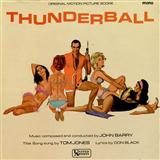Thunderball (theme from the James Bond film) sheet music by Tom Jones