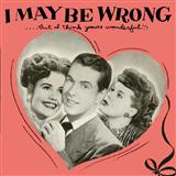 I May Be Wrong (But I Think You're Wonderful) sheet music by Henry Sullivan