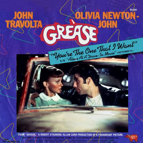 Olivia Newton-John and John Travolta You're The One That I Want (from Grease) cover art