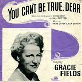 You Can't Be True Dear sheet music by Hans Otten