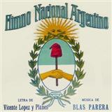 Himno Nacional Argentino (Argentinian National Anthem) sheet music by Jose Blas Parera