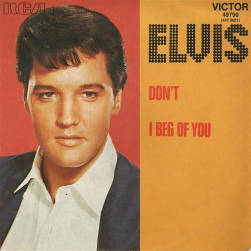 Elvis Presley Don't cover art