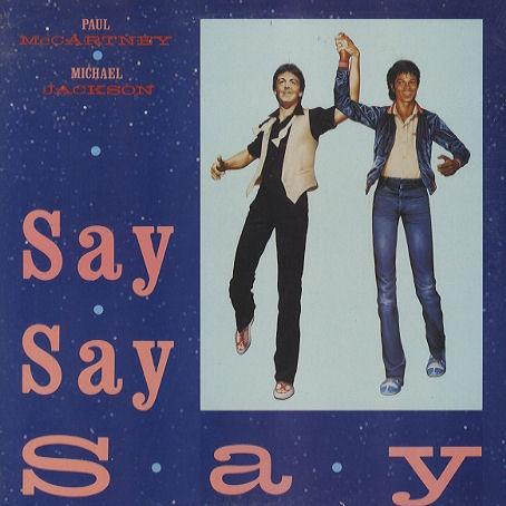 Paul McCartney & Michael Jackson Say Say Say cover art