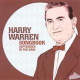 September In The Rain sheet music by Harry Warren