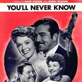 You'll Never Know sheet music by Mack Gordon