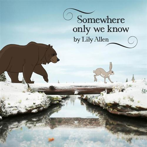 Lily Allen Somewhere Only We Know cover art