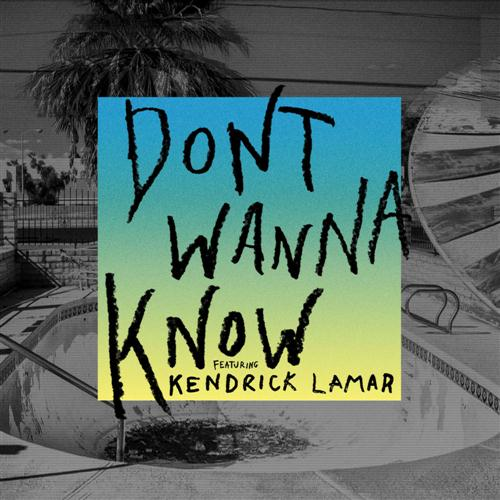 Maroon 5 Don't Wanna Know (feat. Kendrick Lamar) cover art