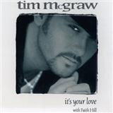 It's Your Love sheet music by Tim McGraw with Faith Hill