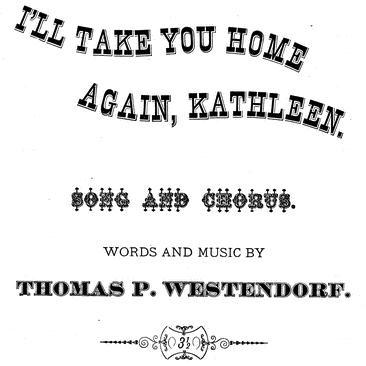 Thomas Westendorf I'll Take You Home Again, Kathleen cover art