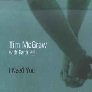 Tim McGraw with Faith Hill I Need You cover art