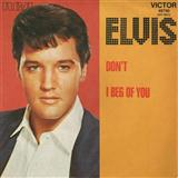 Don't sheet music by Elvis Presley