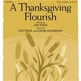 A Thanksgiving Flourish sheet music by Jon Paige
