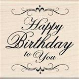 Happy Birthday To You sheet music by Mildred & Patty Hill