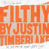 Filthy sheet music by Justin Timberlake
