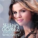 Who Says sheet music by Selena Gomez & The Scene