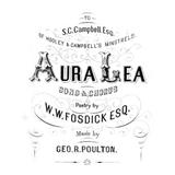 Aura Lee sheet music by W.W. Fosdick