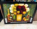 Large-Black-Wood-Framed-Art---Wine-with-Flower-Bouquet_6746A.jpg