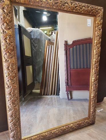 Large Ornate Framed Mirror From The Banff Springs Hotel Liquidation Sale Calgary Furniture Exchange