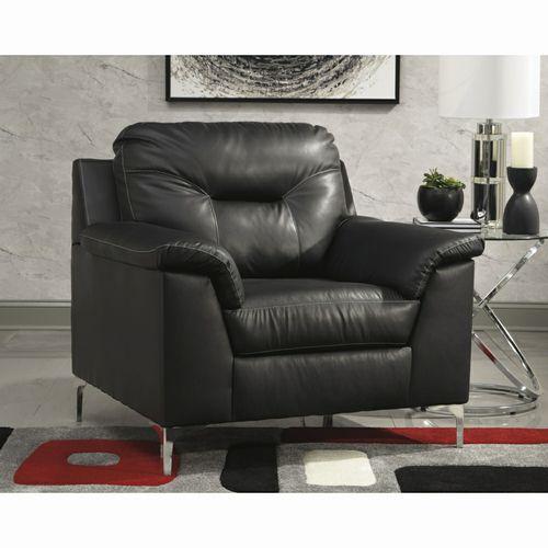 New Black Faux Leather Club Chair Liquidation Sale