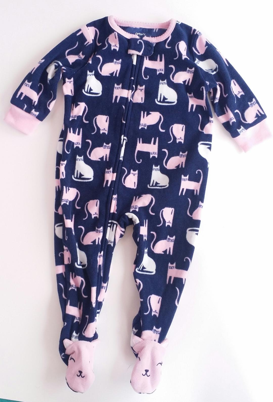 Carters-3-6-MONTHS-Cat-Print-Fleece-Pajamas 2121286A. e28f3a489