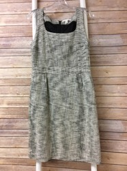 Banana-Republic-Size10P-Cream-Black-Tweed-Woven-Dress-Free-Shipping_2552566A.jpg
