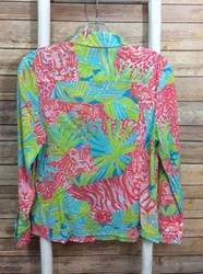 Lilly-Pulitzer-SIZE-8-AquaPink-Lime-GreenMulti-Animals-Buttons-Blouse_3123658B.jpg