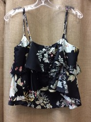 MCGUIRE-SIZE-M-Navy-Multi-Color-Flowers-Flutter-Sleeve-Tank-Blouse-NWT_3122956B.jpg