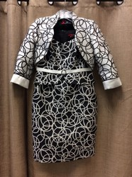 Sonia-Pena-Ladies-Size-8-White-Black-Circles-Dress-wJacket_3123117A.jpg