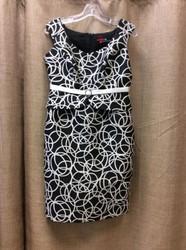 Sonia-Pena-Ladies-Size-8-White-Black-Circles-Dress-wJacket_3123117B.jpg