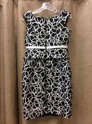Sonia-Pena-Ladies-Size-8-White-Black-Circles-Dress-wJacket_3123117C.jpg