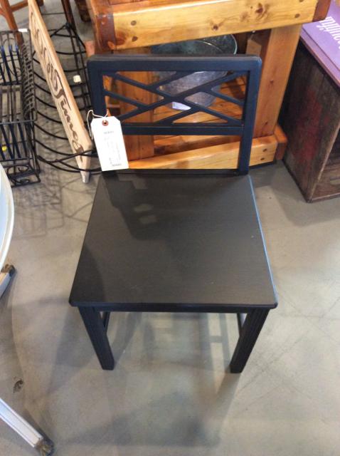 Farmhouse Antique black Painted Chair