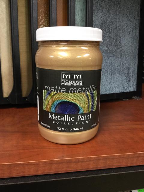Matte Metallic Paint Pale Gold  Qt_15328A