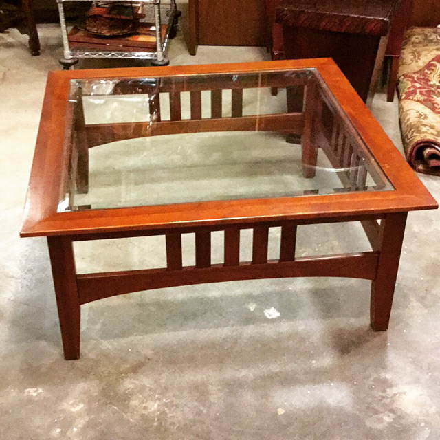 Exceptionnel Mission Style Coffee Table_23347A