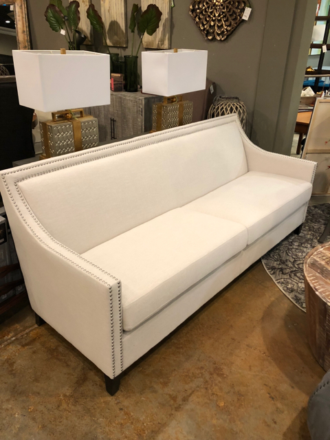 NEW Off White Linen Blend Sofa_29207A