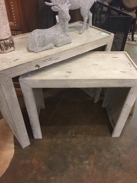 Small Whitewashed Parsons Table_18824A
