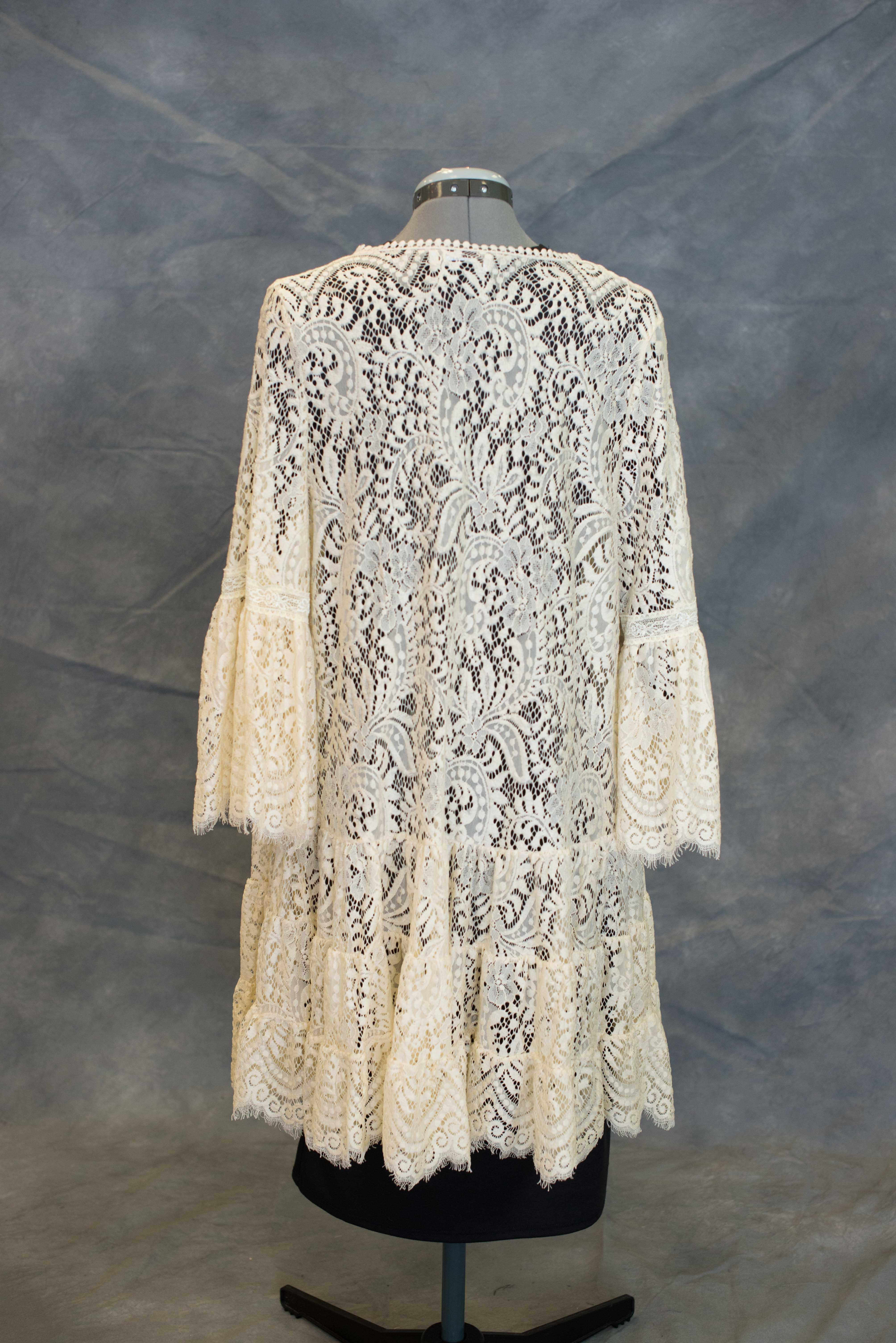 Beige Lace Cardigan | Jessi Ann Boutique