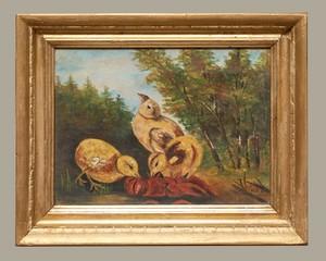 Oil-Painting-3-Chicks-In-Gilt-Frame_90039A.jpg